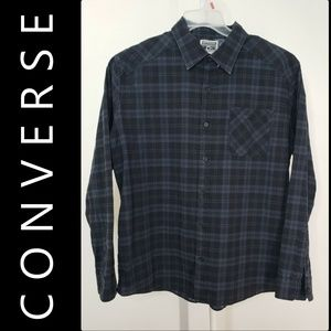 Converse Men Plaid & Check Shirt Size Extra Large